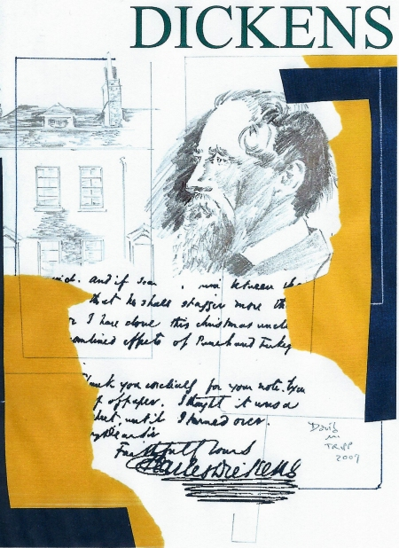 Small Collage Study of Charles Dickens