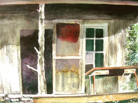 Detail of a Second Large Watercolor of the same 1903 Cabin