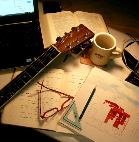 writing music attention struggling tonight wanderings recollections tripp watercolor david reflection reading