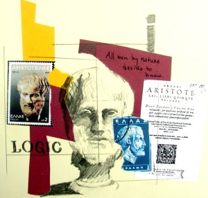 Aristotle Drawing/Collage