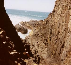 Relaxing on the Oregon Coast among the Rocks