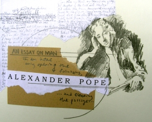 Alexander Pope Drawing/Collage