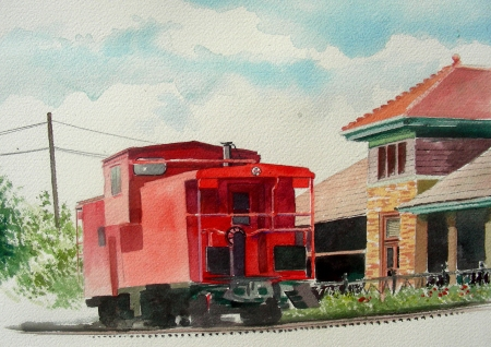 Continued Work on the Waxahachie Caboose
