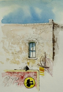 Plein Air Watercolor Sketchin in Hico, Texas