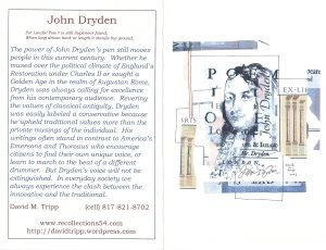 A New Greeting Card Featuring John Dryden