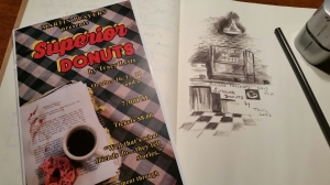 Playbill plus my Rapid Sketch of the Set