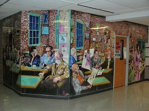 One of my Murals in Arlington Martin High School