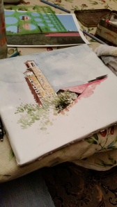 Watercolor Sketch of the Ridglea Theater in Fort Worth--$100