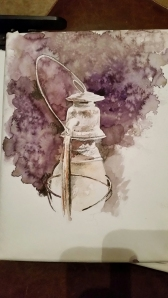 Quick Watercolor Sketch Among Friends