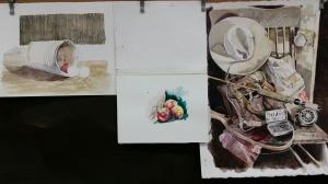Three Watercolors in Progress