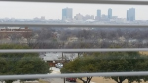 Fort Worth Skyline from the Top Floor of the University Library
