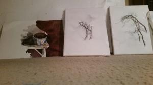 Staring at Watercolor Sketches Late at Night