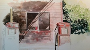 Abandoned Gas Station,  Revisited