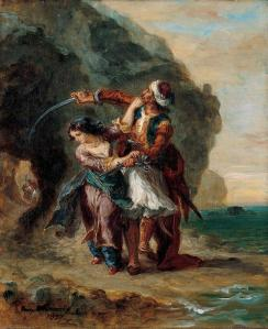 """Selim and Zuleika"" by Eugene Delacroix"