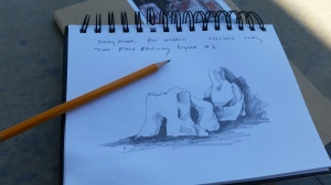 Sketching the Henry Moore Sculpture