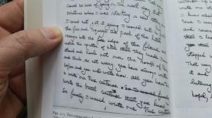 Hemingway's handwritten manuscript for