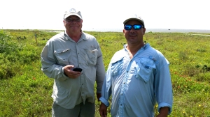Paul and Bobby--two scientists overflowing with information about the island