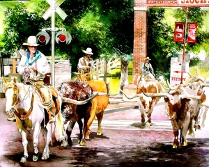 Fort Worth Cattle Drive