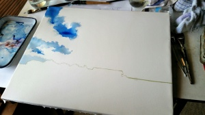 Beginning a Large Cloud Portrait