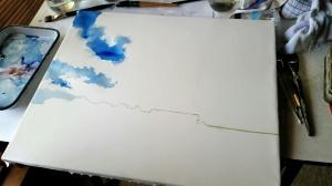 Beginning a Large Cloud Portrait