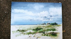 Nearing the Finish of an Earlier Painting of the Laguna Madre
