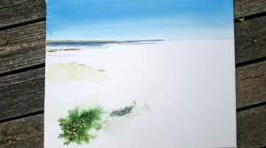 Watercolor Study of the Texas Laguna Madre