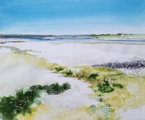 "Recent 20 x 24"" Laguna Madre Watercolor in Progress"