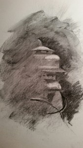Charcoal Drawing from the Shadows