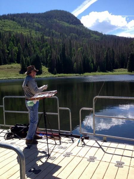 Tucker Pond multi tasking