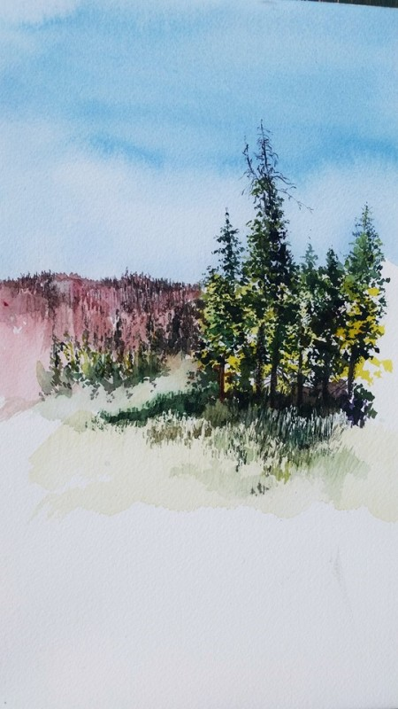 Tucker Pond painting (2)