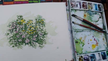 flowers easel