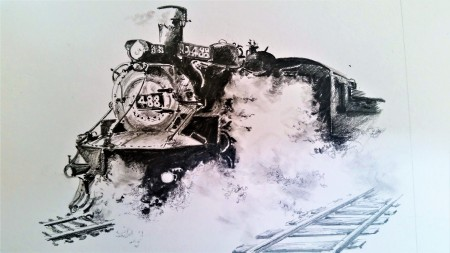 train drawing finished