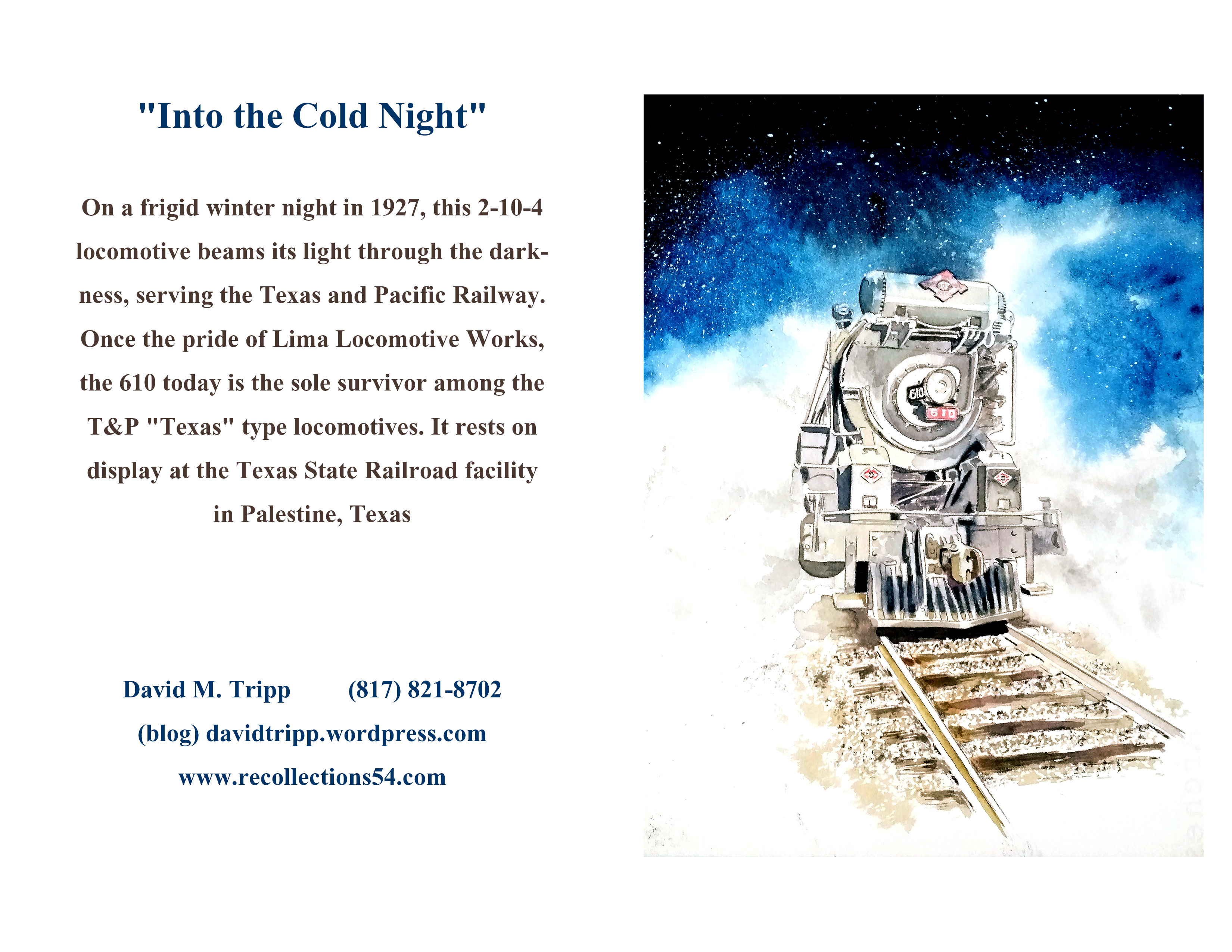 New greeting cards coming out recollections 54 the art of david tripp professional photographer and my new friend residing for now in palestine has been formatting my latest train watercolors into 57 greeting cards im m4hsunfo