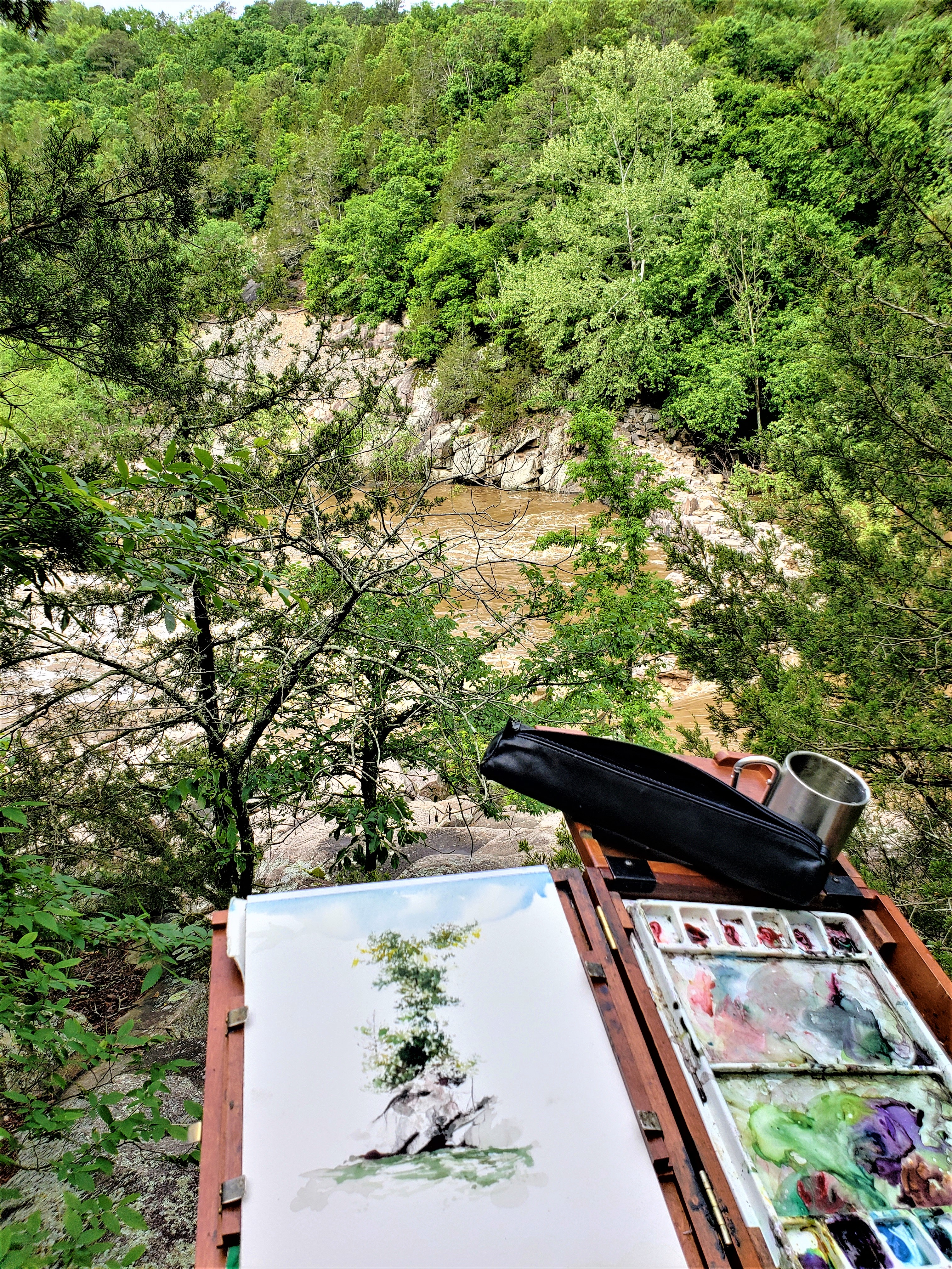 cliff painting easel