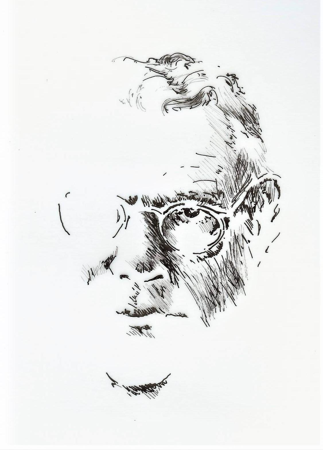 Tillich ink portrait
