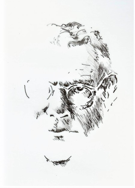 Tillich ink portrait