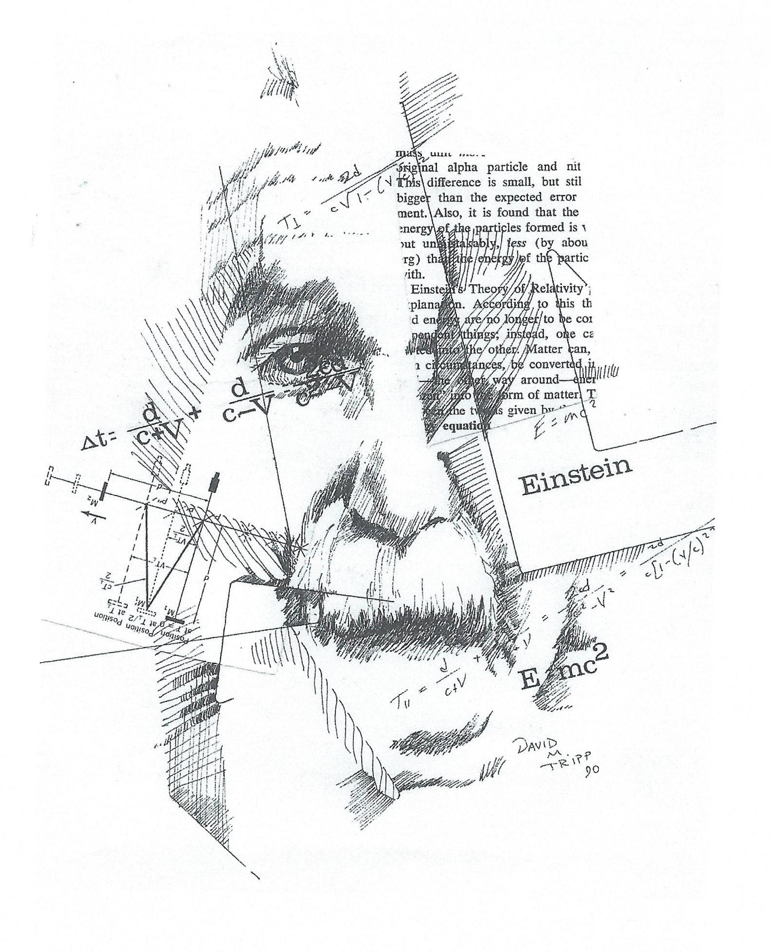 Einstein long face